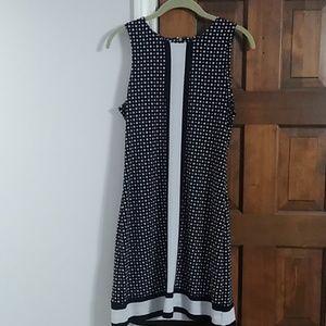Mini Michael Kors black and white polka dot dress